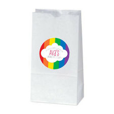 12 Rainbow Birthday Party Favors Personalized Treat Bag Stickers