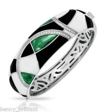 Belle Etoile Tango Emerald Bangle NWT Size M