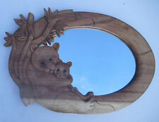 Panda Wall mirror for kids with wood carved frame CVapollo(uk)