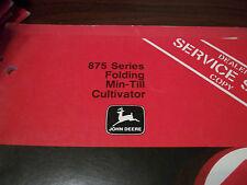 John Deere Tractor Operator'S Manual 875 Series Folding Min-Till Cultivator