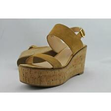 Steve Madden Caytln Women US 8.5 Tan Wedge Sandal Pre Owned  1572