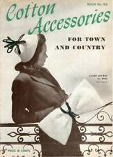 Vintage 1940s Crochet Pattern Book Cotton Accessories Calot Bag Turbans Hats 180