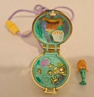 Vintage Polly Pocket BlueBird 1993 Princess Mermaid Locket Necklace COMPLETE