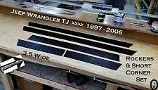 "Jeep Wrangler TJ 3 1/2"" BLACK Diamond Plate Rocker & Short Corner Set"