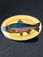 Vintage Collectible Alaska Fish Colorful Metal Pin Back Lapel Pin Hat Pin