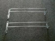 """2x WALL MOUNTED HANGING RAILS Chrome Plated. 12"""" Long x 2 Bars on Each. Useful."""