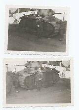2 Fotos Wehrmacht Beutepanzer Frankreich Renault Char B1