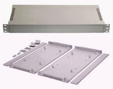 "# IN STOCK # GRAY 1U plastic rack mount radio enclosure project kit cabinet 19"""