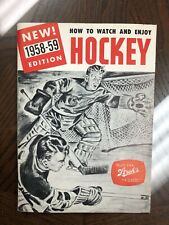 1958-59 STROH'S BEER HOCKEY GUIDE-DETROIT REC WINGS