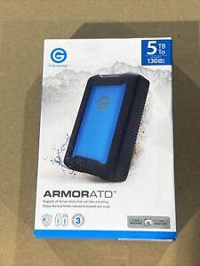 G-Technology 0G10478-1 5 TB ArmorATD Rugged Portable External HDD Black -JD0316