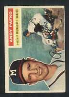 1956 Topps #312 Andy Pafko VGEX Braves 83401