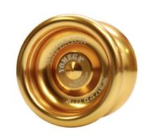 Yomega Maverick Gold Yo Yo + 3 FREE NEON STRINGS YELL/ORG/GREEN Brand New