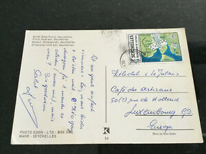 to Luxembourg Postcard 1978 Seychelles