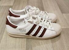Adidas Superstar 80s WHITE MAROON SHELLTOE UK 8 EU 42