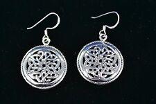 Sterling Silver (925) Celtic Style Earrings #8035