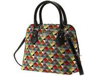 Signare Ladies Woven Tapestry Fashion Handbag Shoulder Bag In Triangle Design