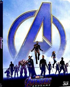 Avengers Endgame (Blu-Ray 3D + Blu-Ray +BLU RAY BONUS+Steelbook)AUDIO ITALIANO❗