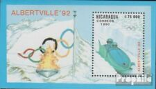 Nicaragua block192 unmounted mint / never hinged 1990 Olympics Winter Games ´92