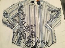 NWT $145.00 Tommy Bahama Men Frond with the Wind LS Buttondown Violet Petal XL