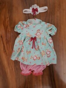 Hand made  dolls clothes for 12-14 inch dress, pants +headband NO DOLL