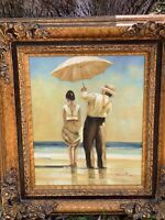 Jack Vettriano Copy of Oil On Canvas Carved Ornate Frame famous Singing Butler