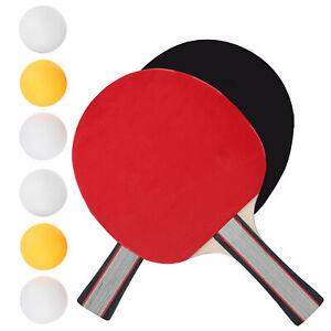 2x Profi Tischtennisschläger Set Tischtennis Schläger Tischtenniset mit 6 Bällen