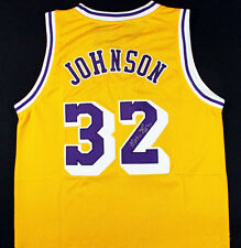 MAGIC JOHNSON HAND SIGNED AUTOGRAPHED LA LAKERS JERSEY! SHOWTIME! W/ EXACT PROOF