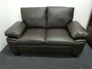 comfortable 2 seater faux leather sofa