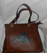 Newfoundland dog Handbag Purse for Women Pocketbook Hand Painted Vegan Leather