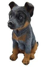 Blue Heeler Sitting Dog Puppy Statue Figurine Ornament Sculpture Garden 27 cm