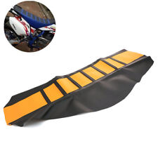 Soft Rubber Motorcycle Seat Cover Wrap Sheet Dirt Bike Enduro Yellow Universal
