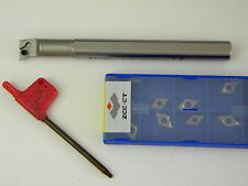 Bohrstange S12K SDUCR 07  inclusive 10 Platten DCMT 07 02 04 für Aluminium