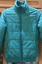 Oakley Men XS Turquoise Puffer Winter Ski Jacket Ribbed Cuff And Hem
