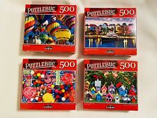 Lot of 4 Puzzlebug Jigsaw Puzzles 500 Piece Puzzle All New