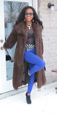 Mint Designer Givenchy Full Length brown Mongolian lamb fur Coat Jacket S 0-4/6