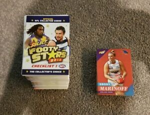 2018 AFL SELECT FOOTY STARS 254 COMMON CARD FULL BASE SET ALL THE TEAMS + WOMENS