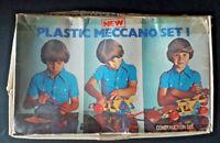 Vintage Plastic Meccano Set 1 - Used, 1977