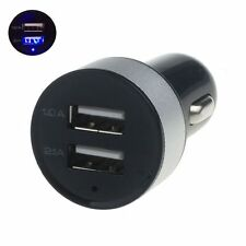 Universal Car 12V 24V To 5V 2 Port USB Charger Adapter For Cell phone With LED