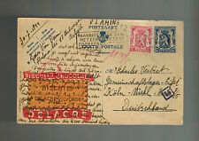 1944 Antwerp Belgium Postcard Cover to Eifel Concentration Camp Koln Germany KZ