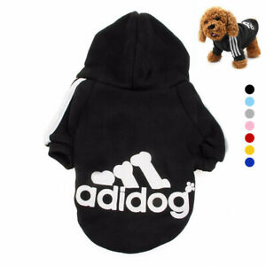 Adidog Dog Hoodie Jumpsuit Puppy Hoodies Coat Sweatshirt Sports XS-9XL