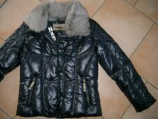 (J110) Airfield Girls Daunen Jacke Winterjacke Logo Stickerei Fellkragen gr.128