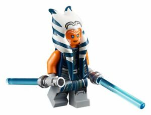 Lego Star Wars Clone Wars Minifigure Ahsoka Tano Jedi & Lightsabers 75283 *New*