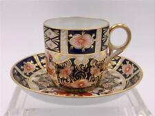 Royal Crown Derby Traditional Imari Espresso Cup and Saucer Demitasse