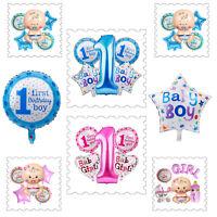 5pcs Foil Helium Balloon 1st Birthday Baby Shower Newborn Girl Boy Party Decor