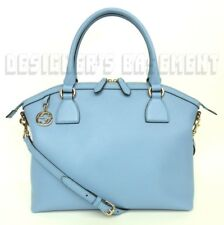 GUCCI mineral blue leather Large DOME GG CHARM convertible TOTE bag NWT Authentc