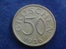 50 Groschen 1936 Österreich 1. Republik  W/20/26