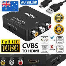Upscaler 1080p Mini AV 2 HDMI Converter RCA to High Definition Nintendo SNES N64