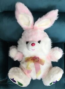 Big Dan Dee? No Tags  Pink Hoppy Hopster Easter Bunny Plush w/ Flower Feet
