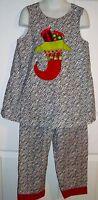 Christmas Custom Outfit 6 Zebra Stocking Top Pants New Embellished Girls Holiday