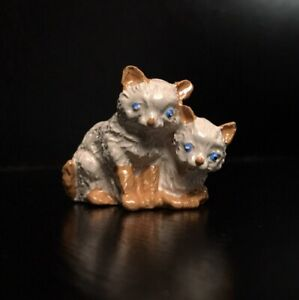 1897 FRITZ BERMANN Miniature Orange Cats Figurine Cold Painted Vienna Bronze